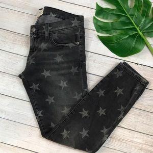 Current/Elliot Black Start Print Jeans sz 25
